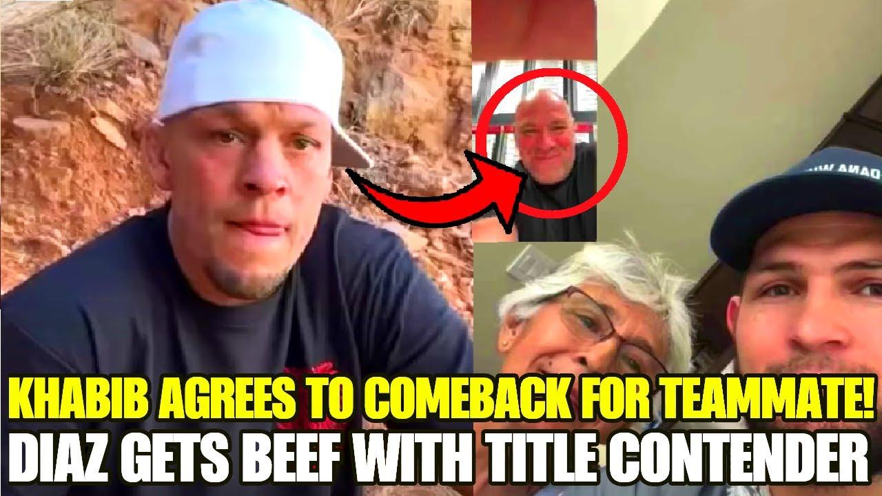 Former UFC champ REVEALS Khabib has AGREED TO RETURN, if Islam Makhachev gets his wish, Nate Diaz