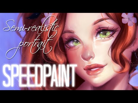 Speedpaint: 「Semi-realism portrait」 Charlotte Valerie Johanson