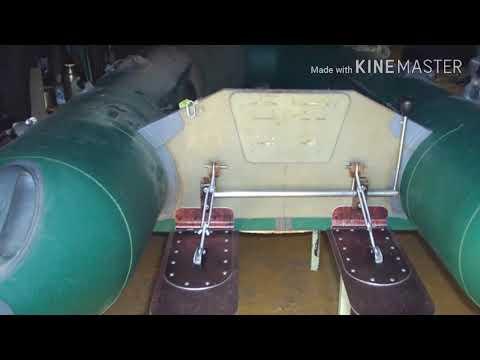 Лодка ПВХ, транцевые плиты. Выход на глиссер стал возможным!