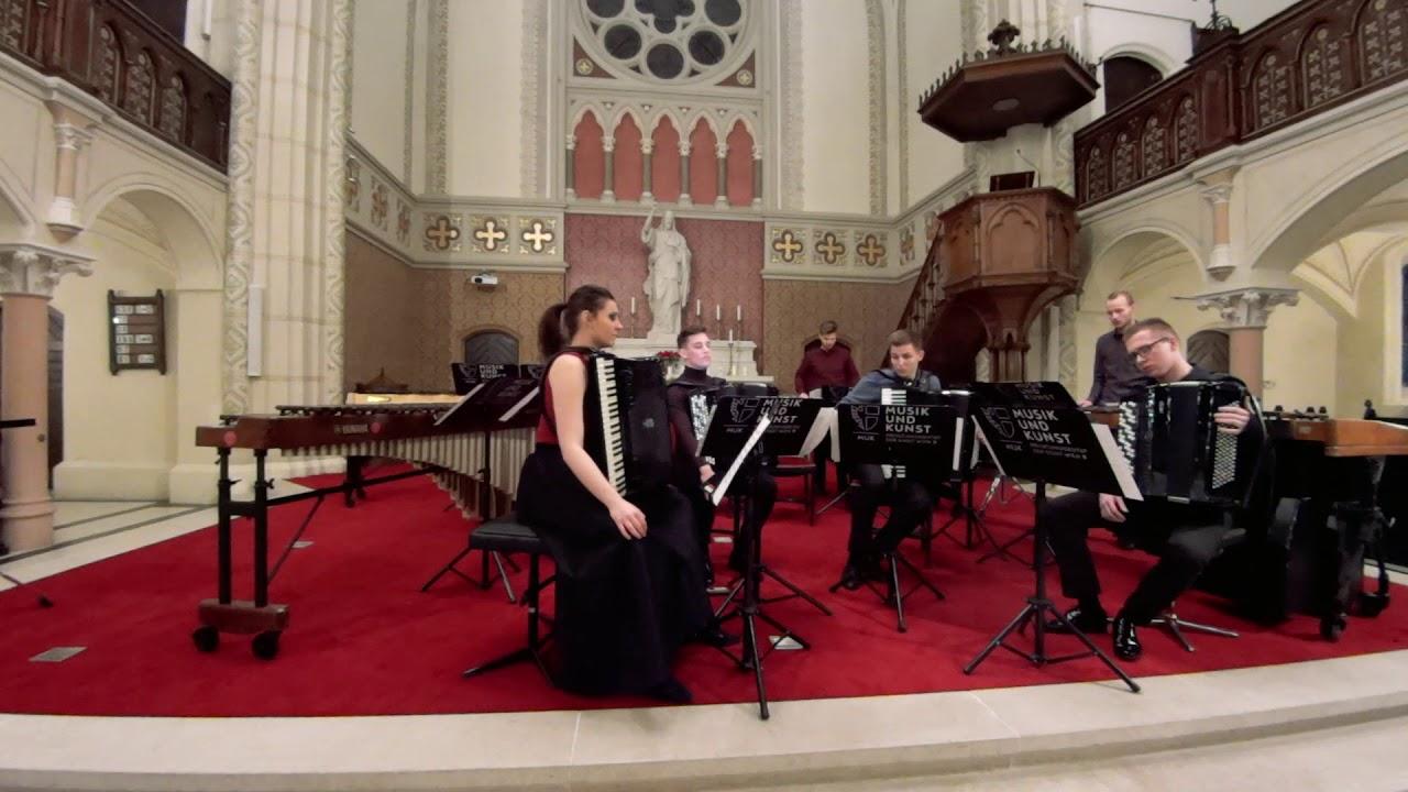 J.S. Bach - Konzert für 2 Violinen - BWV 1043 (Bearbeitung für 2 Marimben und 4 Akkordeon)