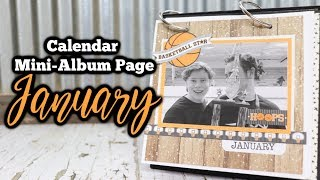 Calendar Mini-Album Page for January | Part 1 of 12