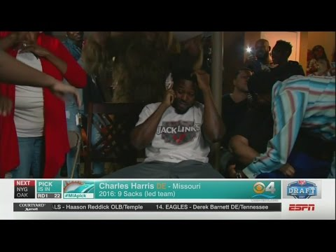 Dolphins Select Pass Rusher Charles Harris With 22nd Pick Of 2017 NFL Draft