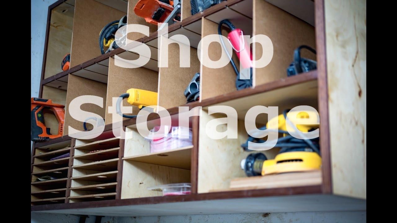 Shop organization - Power tool cabinet - YouTube