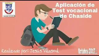 Aplicación de Test vocacional de Chaside