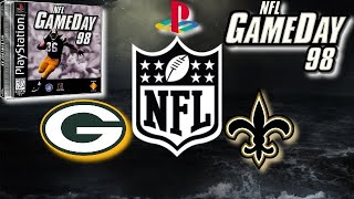NFL GAMEDAY 98 PlayStation Gameplay - New Orleans Saints @ Green Bay Packers