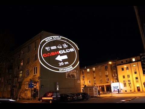 Large Scale Outdoor Projection On The Building Wall Youtube