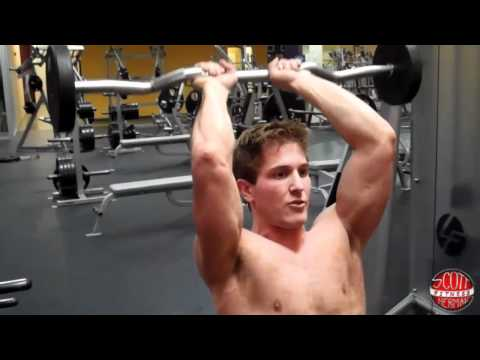 How To: Seated Overhead Tricep Extension with an E-Z Curl Bar
