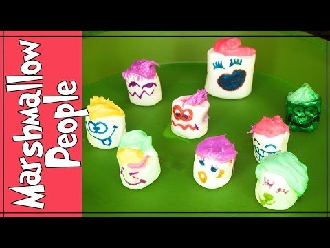 How to Make Marshmallow People | Easy and Fun!!!