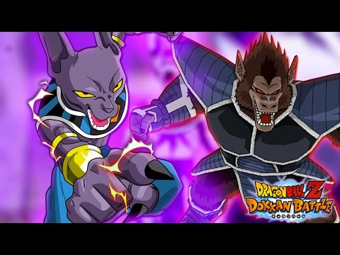 Epic Transformations! Beerus Fury Mode & Great Ape Forms vs Gogeta | Dragon Ball Z Dokkan Battle