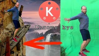 Chroma key green screen Video Edit in 3 minutes in Android, Background Composition