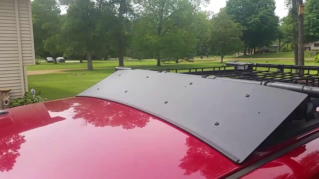 DIY roofrack wind fairing update!
