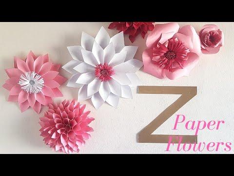 DIY PAPER FLOWER TUTORIAL// 3 EASY PAPER FLOWER DESIGNS