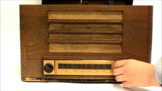 Admiral Tabletop Am Tube Radio And Record Player Phonograph, Vintage 1940s