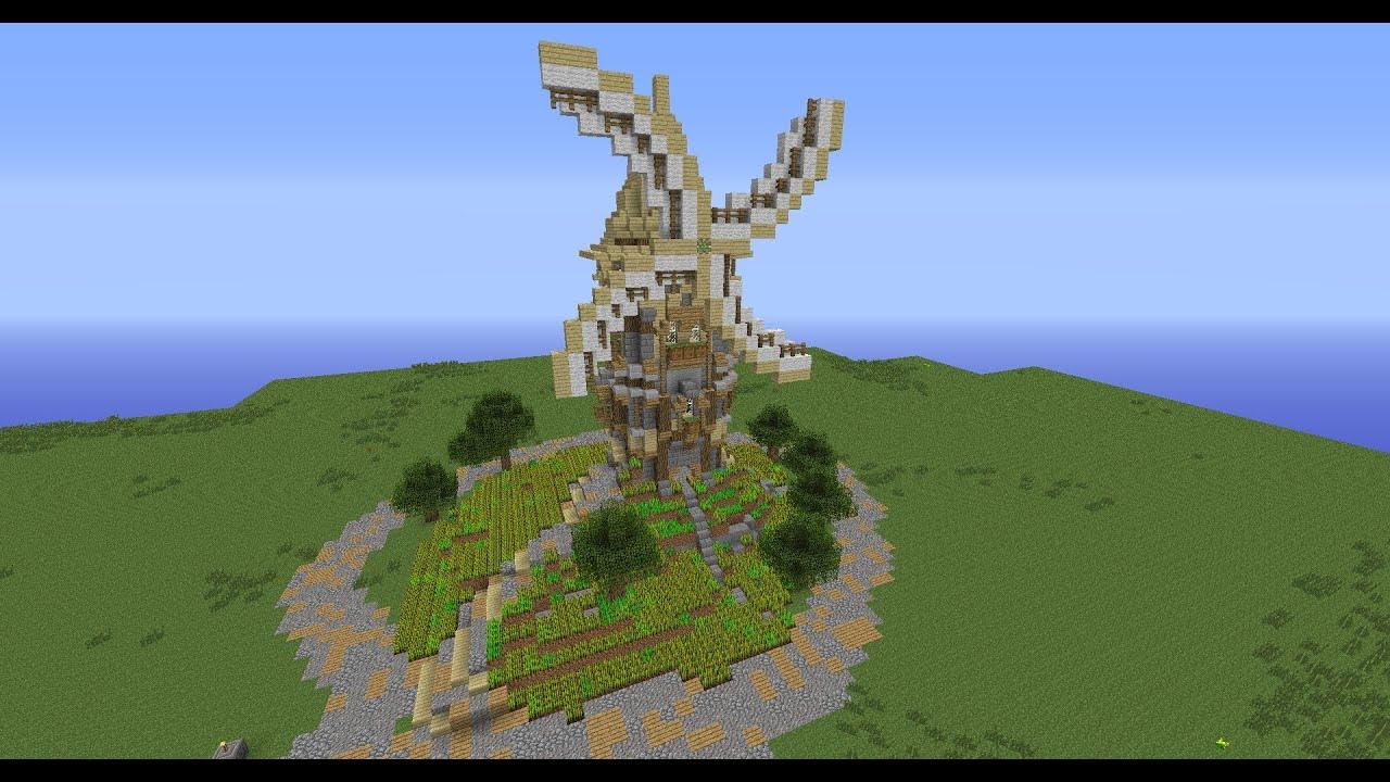 Minecraft Mühle Bauplan