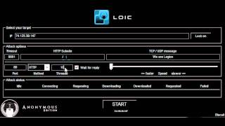 How to use LOIC - ANONYMOUS