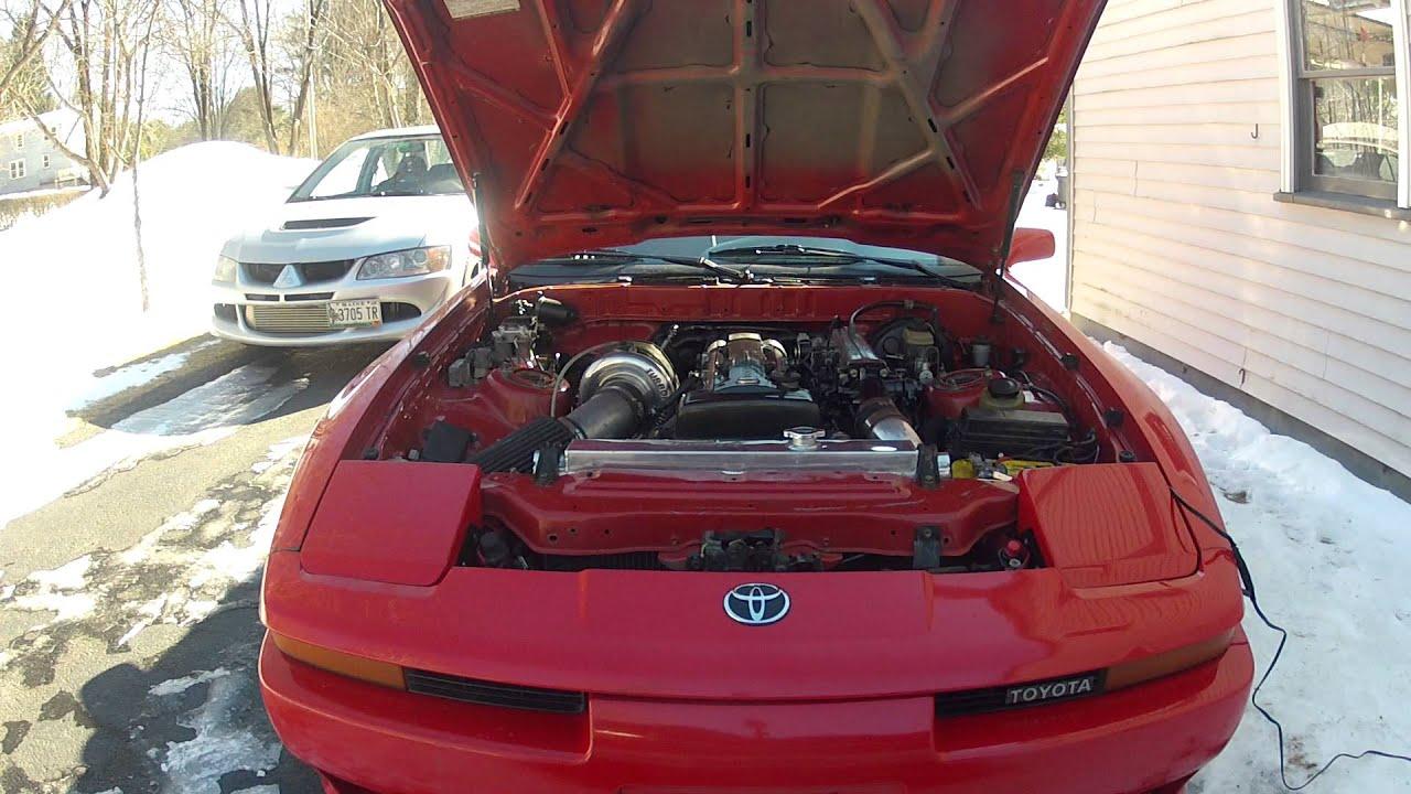 91 Toyota Supra 2jzgte turbonetics t70 MK3 cold start ...