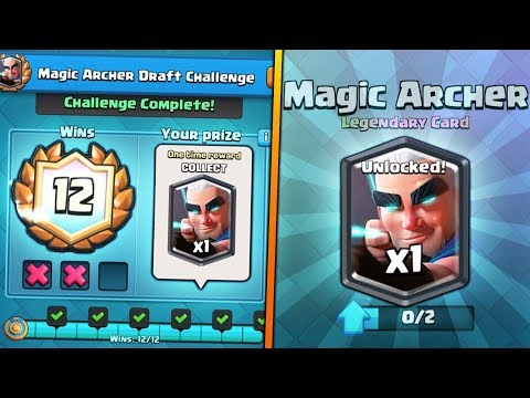 INSANE 12 WINS MAGIC ARCHER CHALLENGE GAMEPLAY! | Clash Royale MAX MAGIC ARCHER GAMEPLAY SOON!