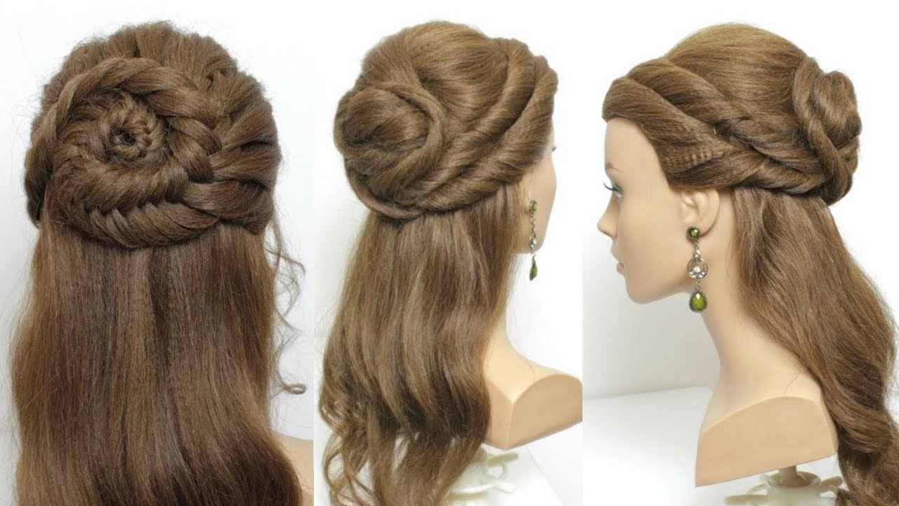 2 easy party hairstyles for girls. long hair tutorial