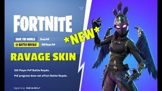 *NEW* RAVAGE SKIN GAMEPLAY IN FORTNITE BATTLE ROYALE EPIC STREAM MOMMENTS/HIGHLIGHTS