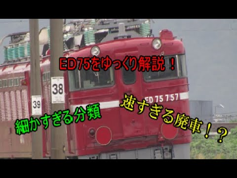 ゆっくりの鉄道講座 第5回ED75編 ~早すぎる廃車~