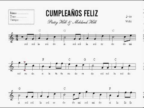 Lecci n 23 partitura cumplea os feliz curso de piano en dvd nivel basico 1 youtube - Cumpleanos feliz piano ...