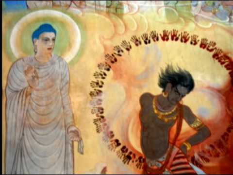 Murals inside Mulagandhakuti Vihara in Sarnath