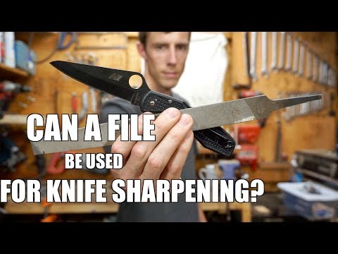 WEIRD KNIFE SHARPENING METHOD. Can you sharpen a knife on a file?