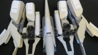 MG Rezel Type C Defenser A+B Unit (4: Weapons) Gundam Unicorn gunpla model review ガンプラ