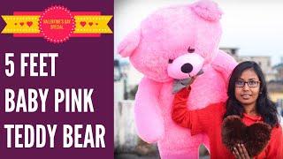 5 Feet Teddy Bear Unboxing Valentine Giant Teddy Bear Best Birthday Gift For Her