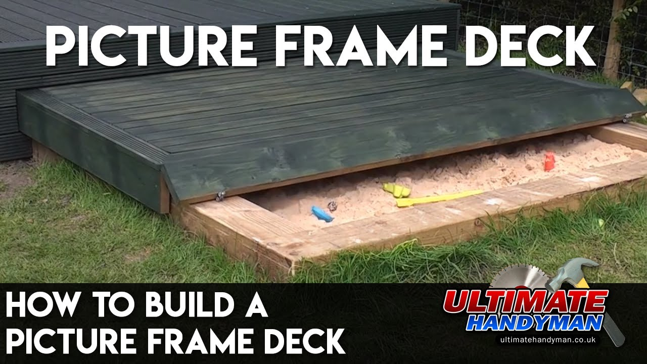 How to build a picture frame deck - YouTube
