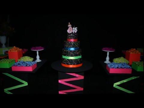 Decoração da Festa Neon | Meus 15 anos