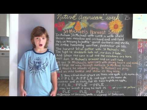 Waldorf Homeschool - St. Michael's Harvest song