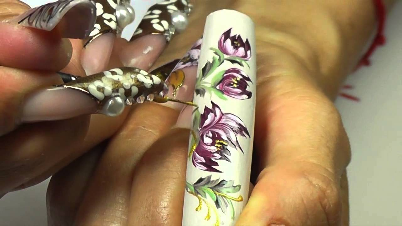 First gel nail art brush z 4 part 1 youtube prinsesfo Images