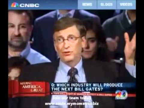 "Bill Gates on""The next big industry."""