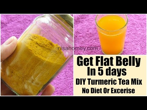 Turmeric Tea DIY Mix For Flat Belly In 5 Days Without Diet/Exercise