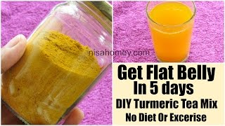 Turmeric Tea DIY Mix For Weight Loss-Get Flat Belly In 5 Days Without Diet/Exercise-Belly Fat Burner
