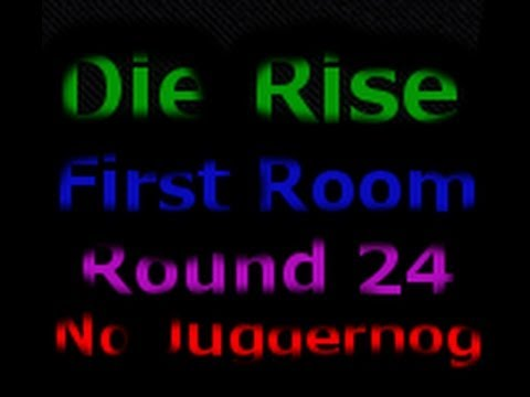 Die Rise First Room Round 24 No Juggernog (Black Ops 2 Zombies) World Record w/ No Jugg