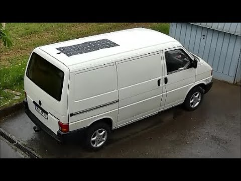vw t4 transporter solaranlage einbauen youtube. Black Bedroom Furniture Sets. Home Design Ideas