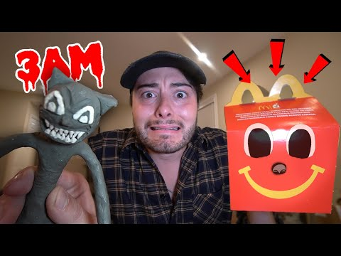 DO NOT ORDER CARTOON CAT HAPPY MEAL FROM MCDONALDS AT 3 AM!! (CAME TO LIFE!)
