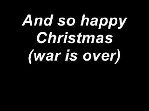 John Lennon  So this is christmas with lyrics