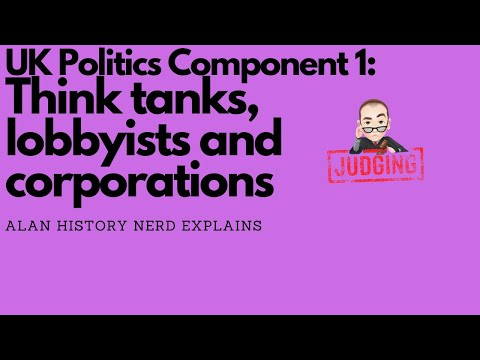 UK Politics Component 1 Think Tanks, Lobbyists and Corporations