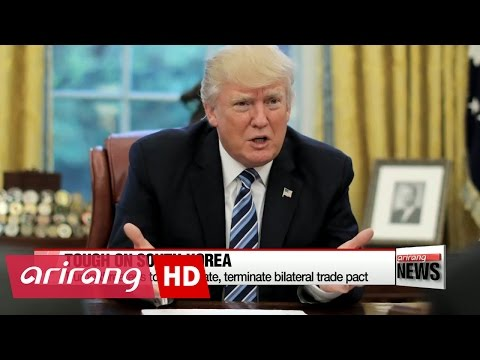 Trump threatens to terminate S. Korea-U.S. FTA, wants payment for THAAD system: Reuters