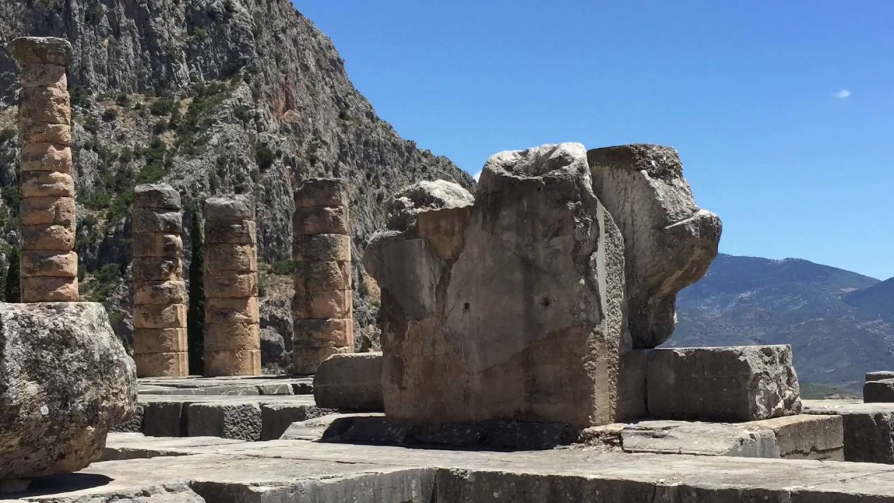 Delphi Day Trip From Athens With Bus 2016 Youtube