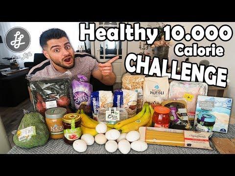 HEALTHY 10.000 CALORIE FOOD CHALLENGE - MANvsFOOD