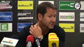 SK Sturm: Mediabriefing vor WAC (15. Runde 2014/15)