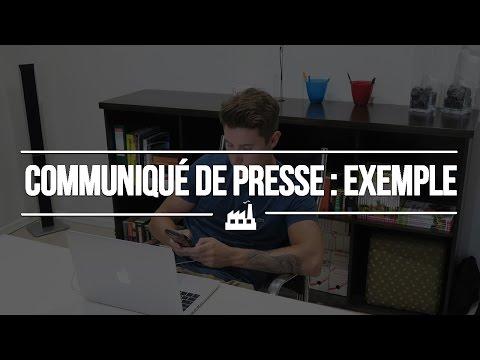 Comment faire un communiqué de presse (exemple)
