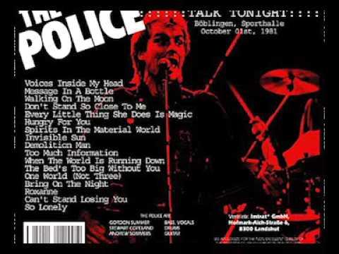 """The Police-Böblingen, 01- 10 -1981 """"Sporthalle"""" Germany (Full Audio Show)"""