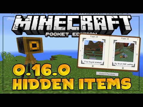 HOW TO GET HIDDEN ITEMS IN 0.16.0! - MCPE 0.16.0 Update - Minecraft PE (Pocket Edition)