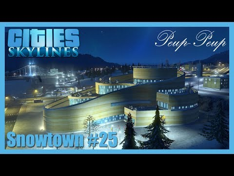 (FR) Cities Skyline - Snowtown #25 : Centre Commercial Chic