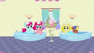 Милашки Пони, самый мимимишный интерьер в доме карманнаой пони!  Мультик игра для детей.